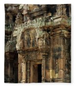 Banteay Srei Temple 01 Fleece Blanket