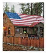 Bar And Grill In South Lake Tahoe Fleece Blanket