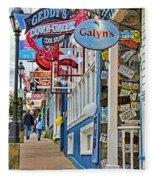 Bar Harbor Sidewalk Fleece Blanket