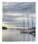 Bar Harbor Sunrise Fleece Blanket