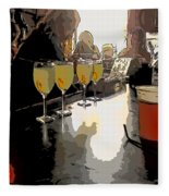 Bar Scene - Absinthe At Pirates Alley Fleece Blanket