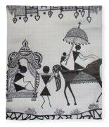 Baraat - The Wedding Procession Fleece Blanket