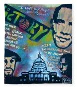 Barack And Common And Kanye Fleece Blanket