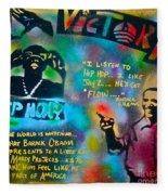 Barack And Jay Z Fleece Blanket