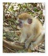 Barbados Green Monkey Fleece Blanket