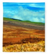 Barbed Wire Fence Fleece Blanket