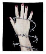 Barbed Wire Fleece Blanket