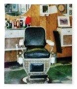Barber - Barber Chair Front View Fleece Blanket