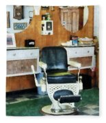 Barber - Barber Shop One Chair Fleece Blanket