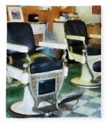 Barber - Corner Barber Shop Fleece Blanket
