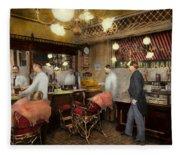 Barber - L.c. Wiseman Barbershop Ny 1895 Fleece Blanket