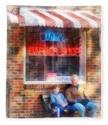 Barber - Neighborhood Barber Shop Fleece Blanket