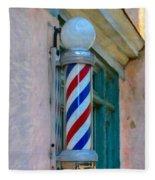 Barber Pole Fleece Blanket