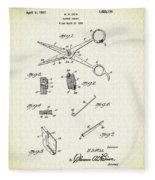 Barber Shears Patent 1927 Fleece Blanket