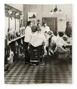 Barber Shop, 1920 Fleece Blanket