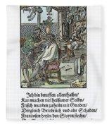 Barber-surgeon, 1568 Fleece Blanket