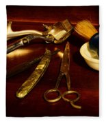 Barber - Things In A Barber Shop Fleece Blanket