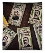 Barber - Vintage Gillette Razor Blades Fleece Blanket