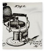 Barbershop Chair Patent Fleece Blanket