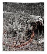 Barbwire Wreath 1 Fleece Blanket