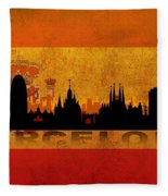 Barcelona City Fleece Blanket