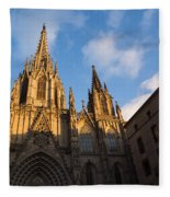 Barcelona's Marvelous Architecture - Cathedral Of The Holy Cross And Saint Eulalia Fleece Blanket
