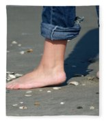 Barefoot On The Beach Fleece Blanket