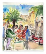 Bargaining Tourists In Siracusa Fleece Blanket