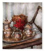 Barista - Tea Set - Morning Tea  Fleece Blanket