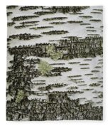 Bark Of Paper Birch Fleece Blanket
