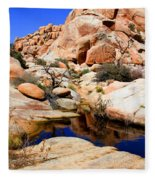Barker Dam Big Horn Dam By Diana Sainz Fleece Blanket