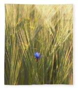 Barley And Corn Flowers In The Field Fleece Blanket