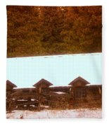 Barn Built By The Ccc At The Tieton Work Center Fleece Blanket