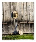 Barn Door And Banjo Mandolin Fleece Blanket