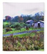 Barn - End Of The Road Fleece Blanket