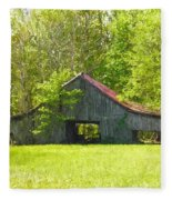 Barn From The Forgotten Farm Fleece Blanket