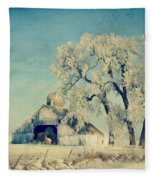 Winter Time Blues Fleece Blanket