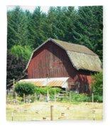 Barn In Summer Fleece Blanket