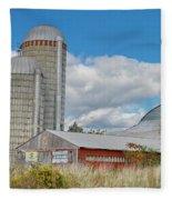 Barn In The Clouds Fleece Blanket