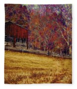 Barn In The Woods-featured In Barns Big And Small Group Fleece Blanket