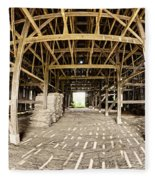 Barn Interior Fleece Blanket