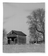Barn On A Hill In Iowa Fleece Blanket