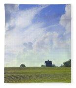 Barn On Top Of The Hill Fleece Blanket