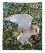 Barn Owl 2 Fleece Blanket