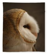Barn Owl 3 Fleece Blanket
