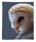 Barn Owl Dry Brushed Fleece Blanket