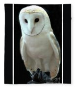 Barn Owl. Fleece Blanket