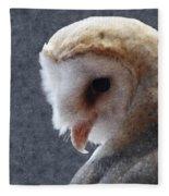 Barn Owl Painterly Fleece Blanket