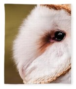 Barn Owl Profile Fleece Blanket