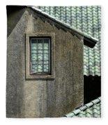 Barn Roofs At The Crane Estate Fleece Blanket